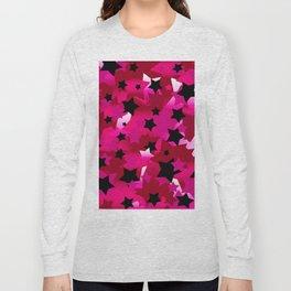 Punk Rock Stars Pink Long Sleeve T-shirt