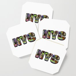 NYC (typography) Coaster