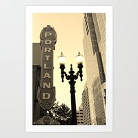 portland Art Prints featuring Portland by DarkMikeRys