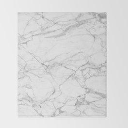 White & Gray Marble Texture Print Decke