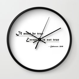 funny or dumb Wall Clock