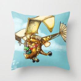Flying Machine Throw Pillow