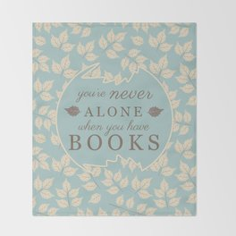 Book Lovers Throw Blanket