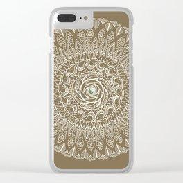 Ecru Mandala Clear iPhone Case