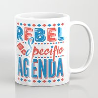 rebel Mugs featuring Rebel by Word Quirk