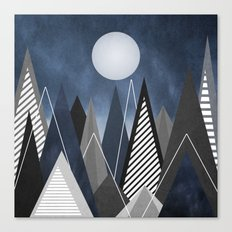 Midnight Mountains Canvas Print
