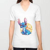 aloha V-neck T-shirts featuring Aloha! by Lisanne Doodles