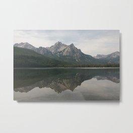 Sawtooth Mountain on Stanley Lake Metal Print