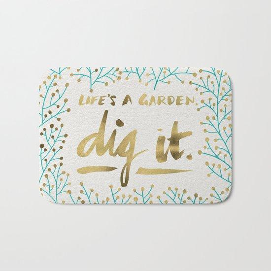 Dig It – Gold & Turquoise Bath Mat