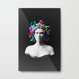 Pop Medusa Metal Print