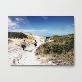 Girls' Surfing Safari Metal Print