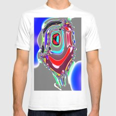 Bent Spots 4 B White MEDIUM Mens Fitted Tee
