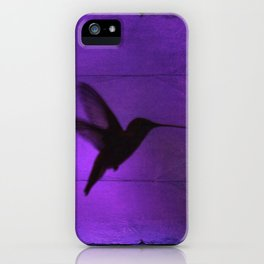Razzleberry Hummingbird by CheyAnne Sexton iPhone Case