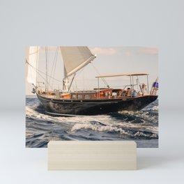 Beautiful sailing yacht- nautical photigraphy- yachting Mini Art Print