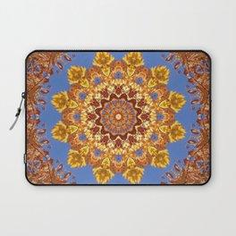 Orange chakra Print, home Meditation art Positive Energy Intention Symbol, Mandala yoga studio leaf Laptop Sleeve