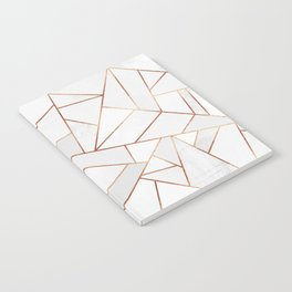White Stone & Copper Lines Notebook