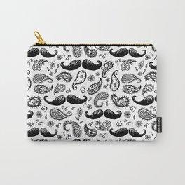 Mustache Paislies Carry-All Pouch