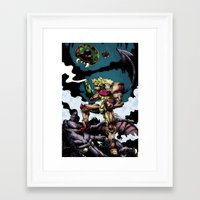 samus Framed Art Prints featuring Samus by ADobson