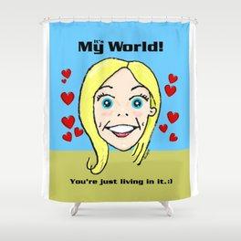 Kiki's World Shower Curtain