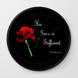 His Grace is Sufficient Wall Clock