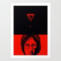imagine Art Prints featuring Imagine by nicebleed