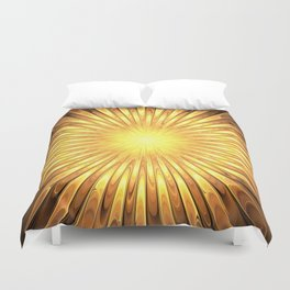 Rays of GOLD SUN abstracts Duvet Cover