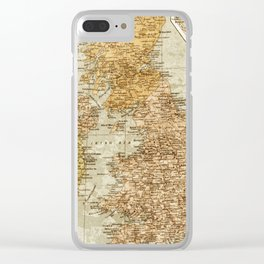 Vintage Map of Great Britain and Ireland, 1947 Clear iPhone Case