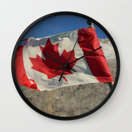 Canadian Rocky Mountains Wall Clock