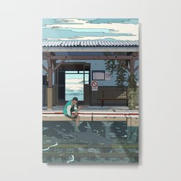 High Tide Tracks Metal Print