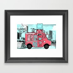 Food Truck Framed Art Print