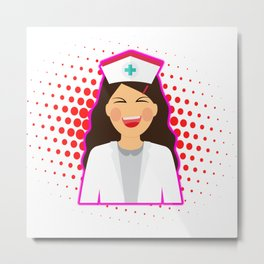 Nurse Heart Labs Design Metal Print
