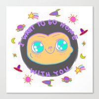 et Canvas Prints featuring ET by grecia colunga