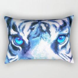 White Tiger | Snow Tiger | Tiger Face | Space Tiger Rectangular Pillow