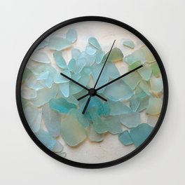 Ocean Hue Sea Glass Wall Clock