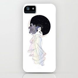 The Universe Looking Out Her Window iPhone Case