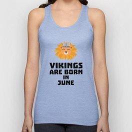 Vikings are born in June T-Shirt Dni2i Unisex Tank Top