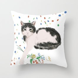 Flowers For Frankie Throw Pillow