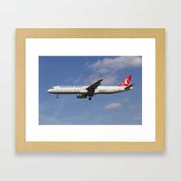 Turkish Delight Airlines Airbus A321 Framed Art Print