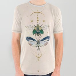 Moon insects All Over Graphic Tee