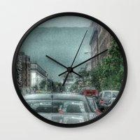 dc Wall Clocks featuring DC Traffic by Geni