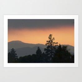 Mountain Sunset Oregon Art Print