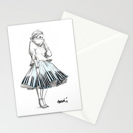 midi skirts Stationery Cards