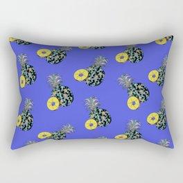 Electric Blue Pineapples Rectangular Pillow