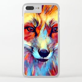 Fox Watercolor 2 Clear iPhone Case