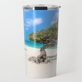 Caribbean Island, Eagle Beach, Aruba Travel Mug