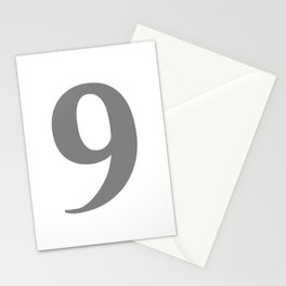 9 (GRAY & WHITE NUMBERS) Stationery Cards