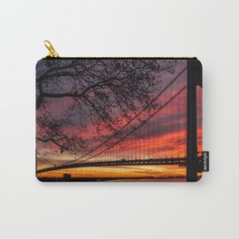 Sunrise at the Bridge Carry-All Pouch