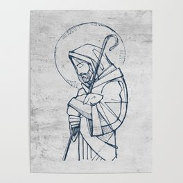 Jesus Christ Good Shepherd Poster