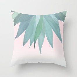 Delicate Agave Fringe Illustration Throw Pillow