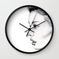 grace Wall Clocks featuring Grace by Bella Harris
